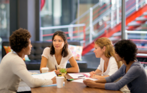 Business meeting with employees fully engaged