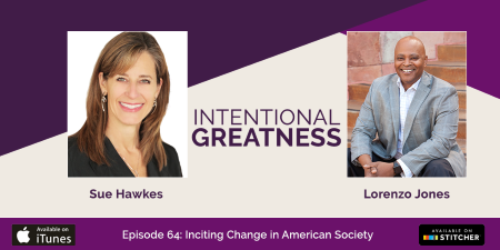 Link to podcast on tackling racial inequality in the workplace with Lorenzo Jones